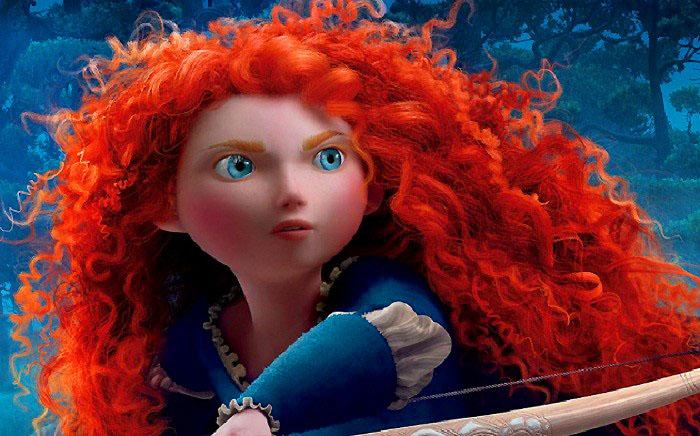 Виньетки цветов, картинка с рыжей девочкой из мультика