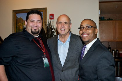 Myself with actor Jeffrey Tambor (winner of the Lifetime Achievement Award) and talented filmmaker Matthew Valdovinos at the 2012 WSIFF! This year's Lifetime Achievement Award Winner is Lou Diamond Phillips.