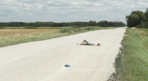 Passionflower - lying on road
