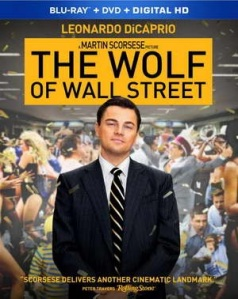 The Wolf of Wall Street on Blu-ray, with Leonardo DiCaprio