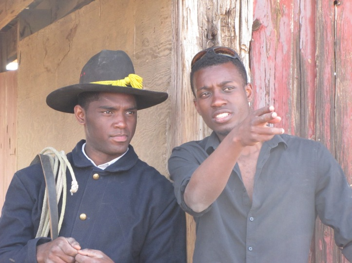 Actor Craig Tate (left) with Director Julian Alexander (right) while filming BUFFALO.